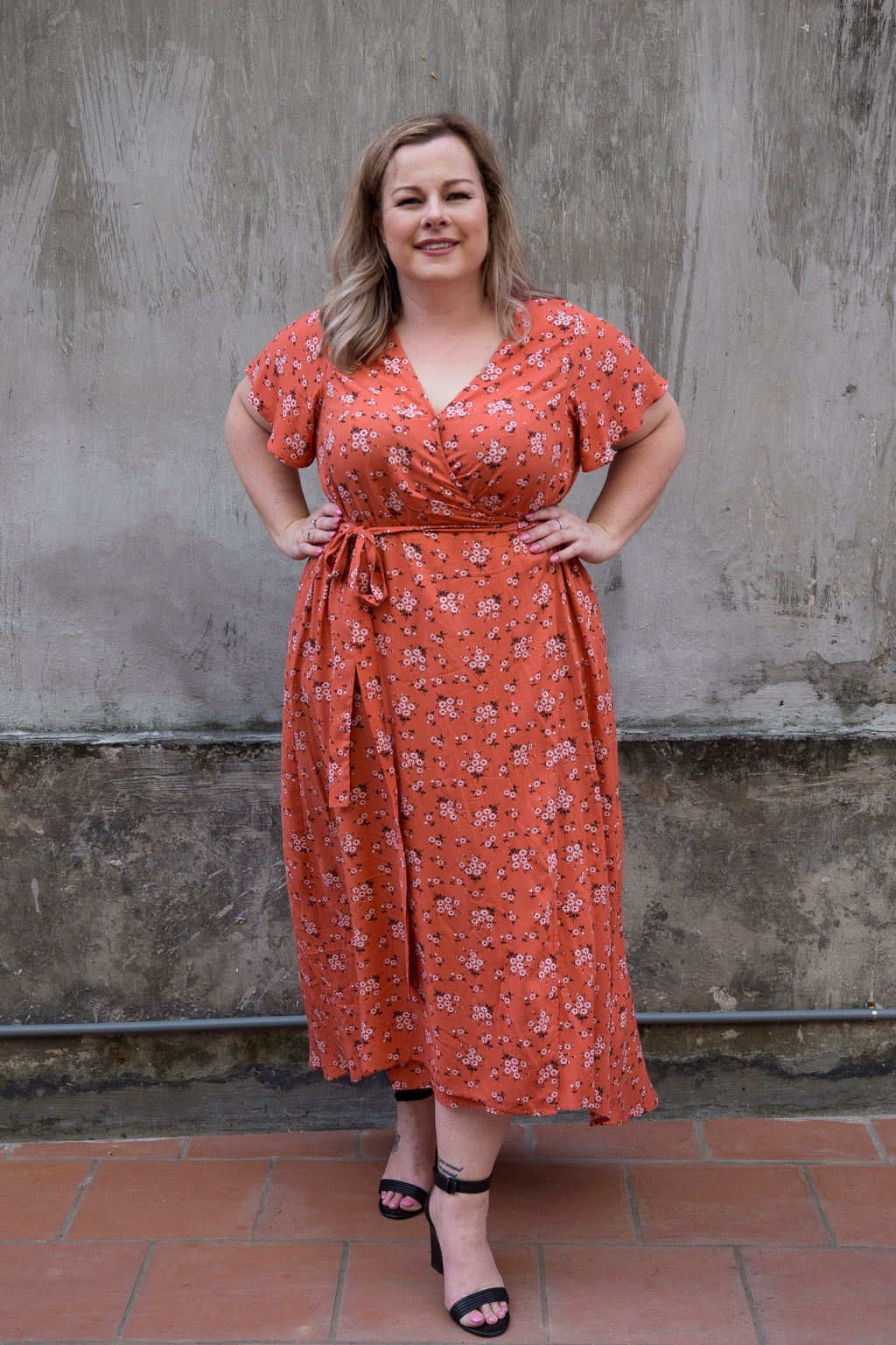 Aussie Curve Wrap Dress - Lulu