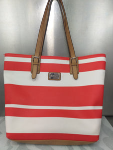 KENNETH COLE REACTION Bolsa  tote roja con blanco