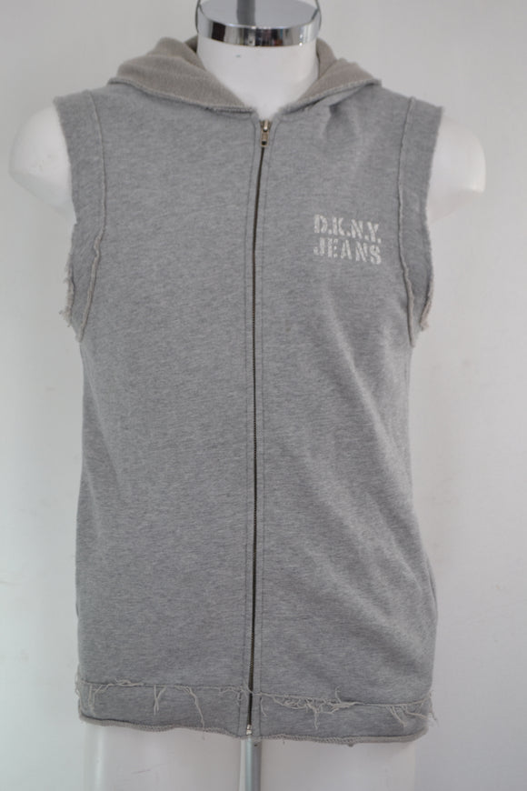 DKNY Chaleco hoodie Gris . Talla S