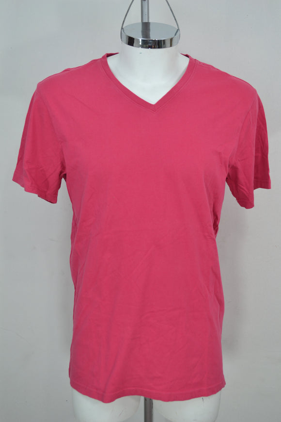UNIT Camiseta Rosa cuello en V. Talla XL