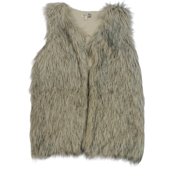 THAT'S IT Chaleco faux fur gris imitación Talla S