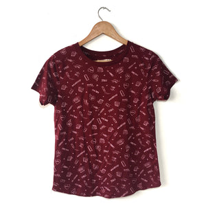 LEFTIES Playera color vino de manga corta Talla S