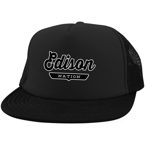 Edison Trucker Hat with Snapback - The Nation Clothing