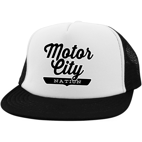 Motor City Trucker Hat with Snapback - The Nation Clothing