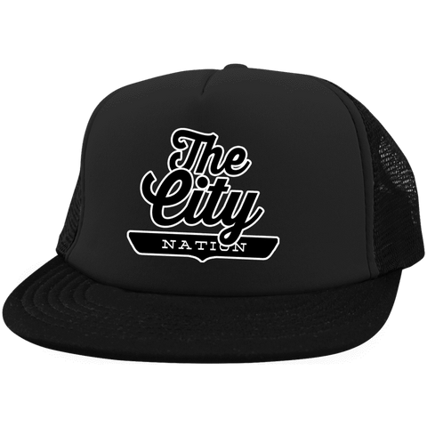 The City Trucker Hat with Snapback - The Nation Clothing