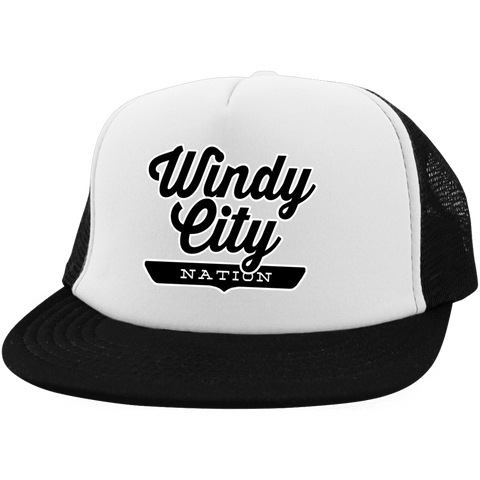 Windy City Trucker Hat with Snapback - The Nation Clothing