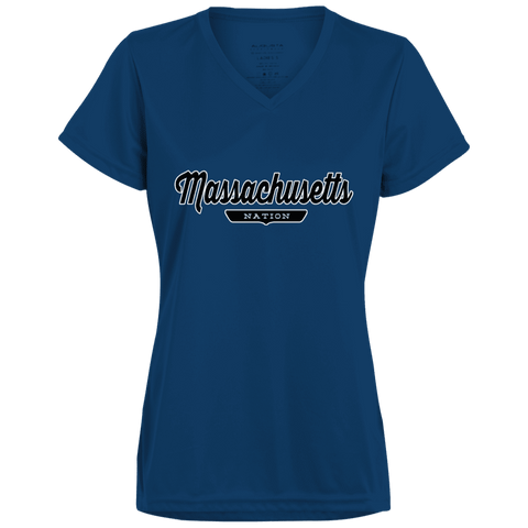 Massachusetts Women's T-shirt - The Nation Clothing