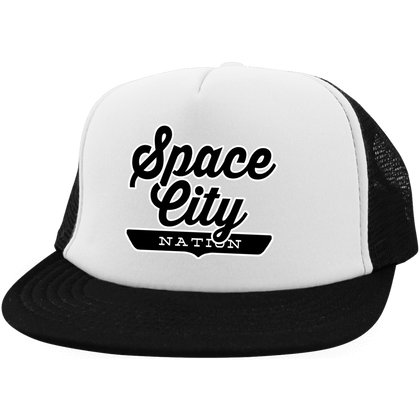 Space City Trucker Hat with Snapback - The Nation Clothing