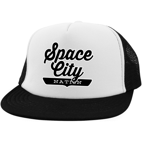 Space City Nation Trucker Hat with Snapback - The Nation Clothing
