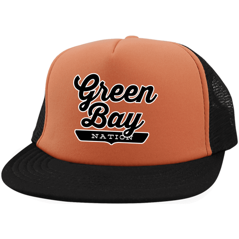 Green Bay Trucker Hat with Snapback - The Nation Clothing