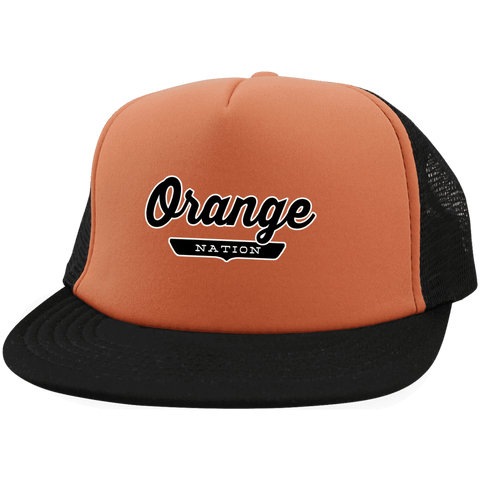 Orange Trucker Hat with Snapback - The Nation Clothing