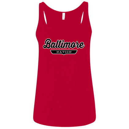 Baltimore Women's Tank Top - The Nation Clothing
