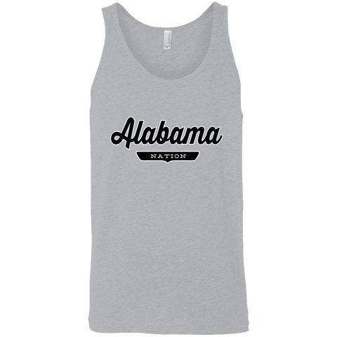 Athletic Heather / X-Small Alabama Nation Tank Top - The Nation Clothing