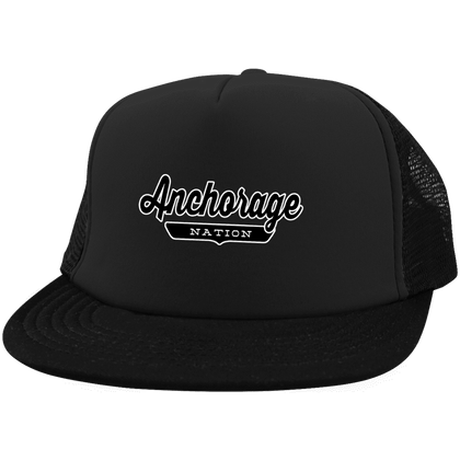 Black / One Size Anchorage Nation Trucker Hat with Snapback - The Nation Clothing
