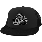Black / One Size Big Apple Trucker Hat with Snapback - The Nation Clothing