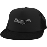 Black / One Size Brownsville Nation Trucker Hat with Snapback - The Nation Clothing