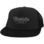Black / One Size Charlotte Nation Trucker Hat with Snapback - The Nation Clothing
