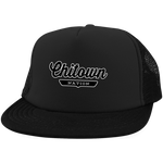 Black / One Size Chitown Trucker Hat with Snapback - The Nation Clothing