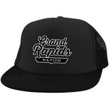 Black / One Size Grand Rapids Nation Trucker Hat with Snapback - The Nation Clothing