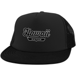 Black / One Size Hawaii Nation Trucker Hat with Snapback - The Nation Clothing