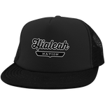 Black / One Size Hialeah Nation Trucker Hat with Snapback - The Nation Clothing