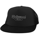 Black / One Size Hollywood Nation Trucker Hat with Snapback - The Nation Clothing