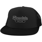 Black / One Size Honolulu Nation Trucker Hat with Snapback - The Nation Clothing