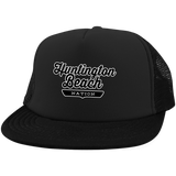 Black / One Size Huntington Beach Nation Trucker Hat with Snapback - The Nation Clothing
