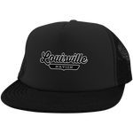 Black / One Size Louisville Nation Trucker Hat with Snapback - The Nation Clothing