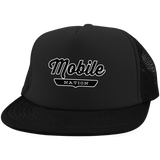 Black / One Size Mobile Nation Trucker Hat with Snapback - The Nation Clothing