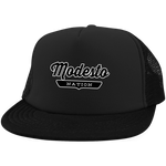 Black / One Size Modesto Nation Trucker Hat with Snapback - The Nation Clothing