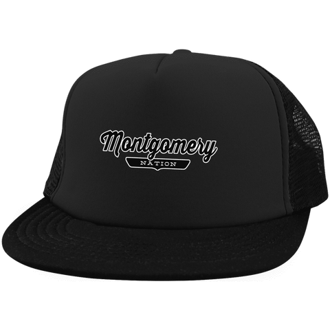 Black / One Size Montgomery Nation Trucker Hat with Snapback - The Nation Clothing