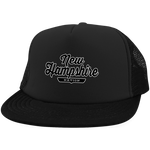 Black / One Size New Hampshire Nation Trucker Hat with Snapback - The Nation Clothing