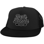 Black / One Size North Dakota Nation Trucker Hat with Snapback - The Nation Clothing