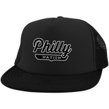 Black / One Size Philly Trucker Hat with Snapback - The Nation Clothing