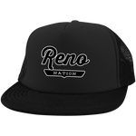 Black / One Size Reno Nation Trucker Hat with Snapback - The Nation Clothing