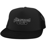 Black / One Size Shreveport Nation Trucker Hat with Snapback - The Nation Clothing