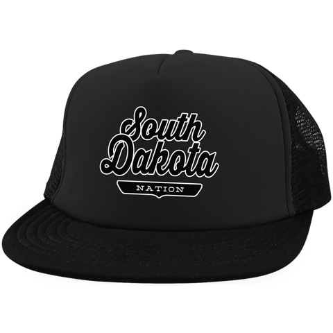 Black / One Size South Dakota Nation Trucker Hat with Snapback - The Nation Clothing