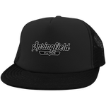 Black / One Size Springfield Nation Trucker Hat with Snapback - The Nation Clothing