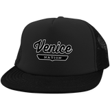 Black / One Size Venice Nation Trucker Hat with Snapback - The Nation Clothing