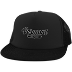 Black / One Size Vermont Nation Trucker Hat with Snapback - The Nation Clothing