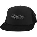 Black / One Size Wyoming Nation Trucker Hat with Snapback - The Nation Clothing