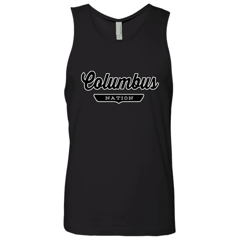 Black / S Columbus Nation Tank Top - The Nation Clothing