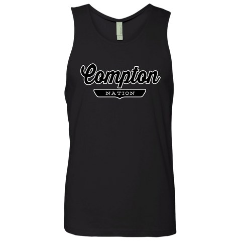 Black / S Compton Nation Tank Top - The Nation Clothing