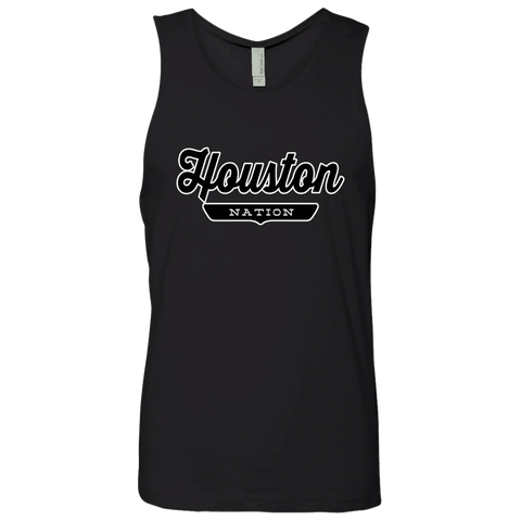Black / S Houston Nation Tank Top - The Nation Clothing