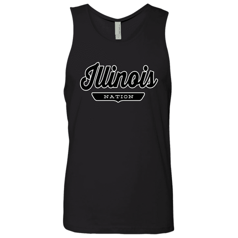 Black / S Illinois Nation Tank Top - The Nation Clothing