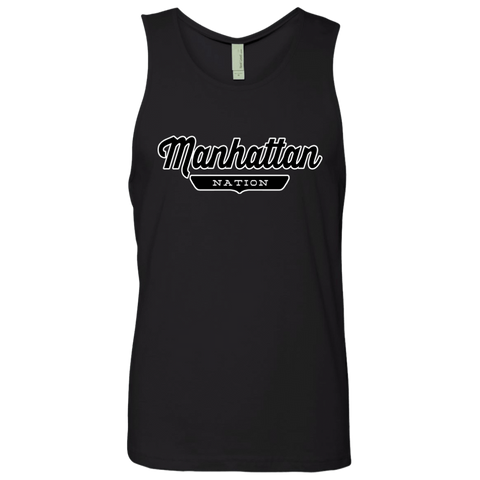 Black / S Manhattan Nation Tank Top - The Nation Clothing