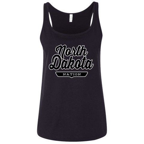 Black / S North Dakota Nation Women's Tank Top - The Nation Clothing