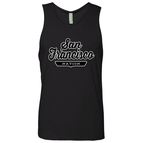 Black / S San Francisco Nation Tank Top - The Nation Clothing