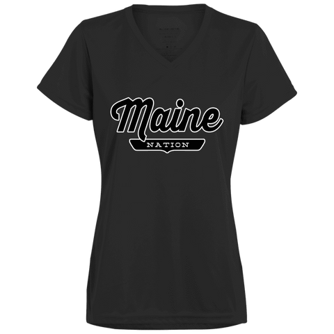 Black / X-Small Maine Nation Women's T-shirt - The Nation Clothing